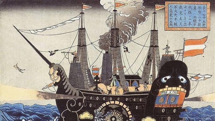 歴史を振り返ると、黒船が来た時には不平等条約を結んだ